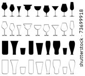 illustration of set of glasses...