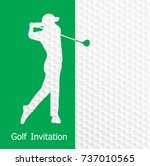 golf tournament invitation...   Shutterstock .eps vector #737010565