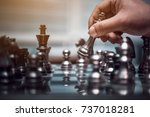 chess board game concept for... | Shutterstock . vector #737018281