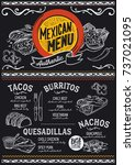 mexican menu for restaurant and ... | Shutterstock .eps vector #737021095