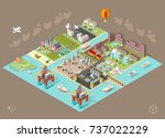 set of isometric high quality... | Shutterstock .eps vector #737022229