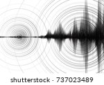 power of earthquake wave with... | Shutterstock .eps vector #737023489
