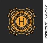 luxury and elegant vector logo... | Shutterstock .eps vector #737026459