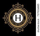 luxury vector logo template for ... | Shutterstock .eps vector #737026885