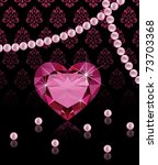 Jewelery Background With Hear...