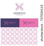 logo design for cosmetics field ... | Shutterstock .eps vector #737034115