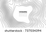 topographic map contour... | Shutterstock .eps vector #737034394