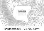 topographic map contour... | Shutterstock .eps vector #737034394