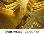 Fine Gold Ingots And Credit...