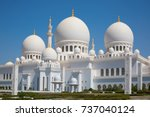 famous sheikh zayed mosque in... | Shutterstock . vector #737040124