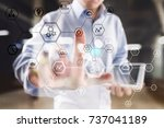 business structure diagram ... | Shutterstock . vector #737041189