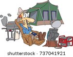 cartoon male ultra camper with... | Shutterstock .eps vector #737041921
