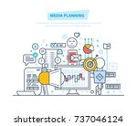 media planning  digital... | Shutterstock .eps vector #737046124