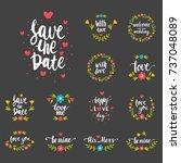 vector hand drawn typography... | Shutterstock .eps vector #737048089