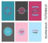 thank you gratitude feeling... | Shutterstock .eps vector #737048614
