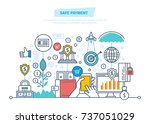 safe payment. protection of... | Shutterstock .eps vector #737051029