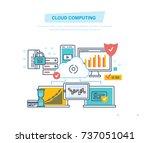 cloud service database....   Shutterstock .eps vector #737051041
