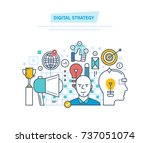 digital strategy. digital...   Shutterstock .eps vector #737051074