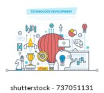 technology development concept. ... | Shutterstock .eps vector #737051131