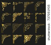 gold corners and borders... | Shutterstock .eps vector #737051935