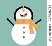 snowman vector flat design