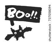 halloween bat and speech bubble ...   Shutterstock .eps vector #737058094
