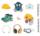 personal protective equipment... | Shutterstock .eps vector #737059021