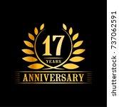 17 years anniversary logo... | Shutterstock .eps vector #737062591