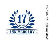 17 years anniversary logo... | Shutterstock .eps vector #737062711