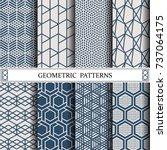 hexagon geometric vector... | Shutterstock .eps vector #737064175