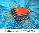 3d illustration of processor... | Shutterstock . vector #737064289