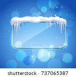 rectangular glass pane frame... | Shutterstock .eps vector #737065387