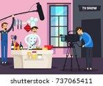 cooking tv show orthogonal... | Shutterstock .eps vector #737065411