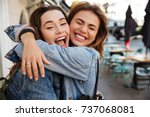 close up photo of laughing... | Shutterstock . vector #737068081