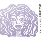 girl. vector illustration. | Shutterstock .eps vector #737069881