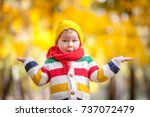 shocked and surprised child.... | Shutterstock . vector #737072479
