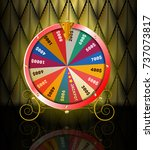 realistic 3d spinning fortune...   Shutterstock .eps vector #737073817