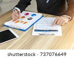 business man sitting at the... | Shutterstock . vector #737076649