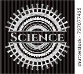 science silvery shiny emblem | Shutterstock .eps vector #737077435