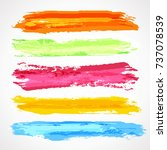 brush strokes template. set of... | Shutterstock .eps vector #737078539