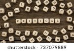 Small photo of Word CRITICAL written on wood block,stock image