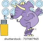 cartoon of an elephant in a... | Shutterstock .eps vector #737087965