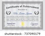 grey classic certificate... | Shutterstock .eps vector #737090179
