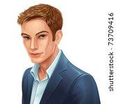 jpeg face portrait of a young... | Shutterstock . vector #73709416
