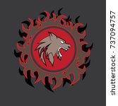 logo team electronic sport... | Shutterstock .eps vector #737094757
