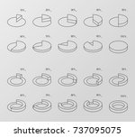 set of outline style isometric... | Shutterstock .eps vector #737095075