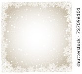 christmas snow and winter... | Shutterstock .eps vector #737096101