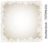 snowflake background | Shutterstock .eps vector #737096101