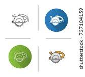 circular saw icon. flat design  ...   Shutterstock .eps vector #737104159