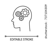 human head with cogwheels... | Shutterstock .eps vector #737104309